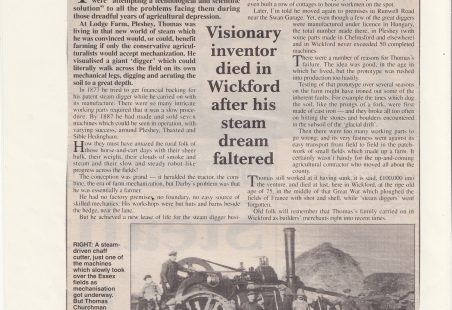 Article about DARBYS of Wickford