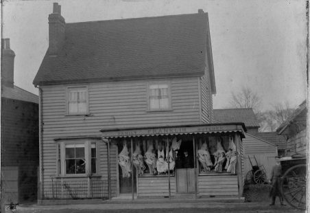 Franklin's Butchers (1), the shop, early 1900s