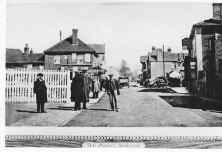 The Broadway, circa 1900, from the railway bridge