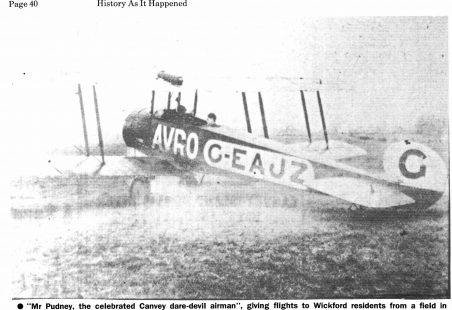 Joy riding in the skies over Wickford, 1928.