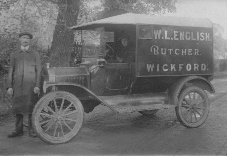 W.L. English Butcher's van