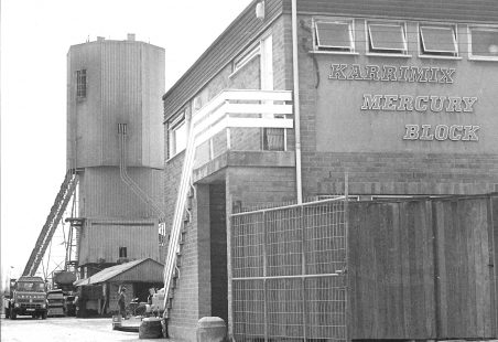 Karrimix works, Russell Gardens, in April 1973.