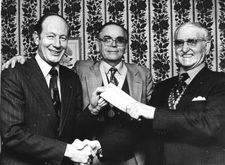 December 1976. A cheque from Barclays Bank to support the club's project - Wickford Talking Newspaper for the Blind. | Echo newspaper