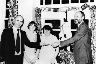 December 1980. Jack Pemberton presents Sunnyside ward at Runwell Hospital with first prize in the best decorated ward competition. | Echo newspaper