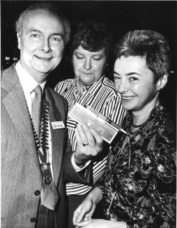 February 1990. Presentation of a syringe driver to Macmillan nurses from Basildon Hospital | Echo newspaper