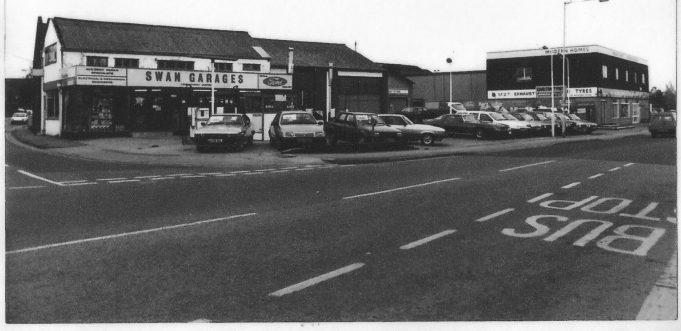 Swan Garages, c.1980.