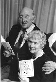 Ken and Mary Phillott of Elder Avenue at their Golden Wedding anniversary in 1993.