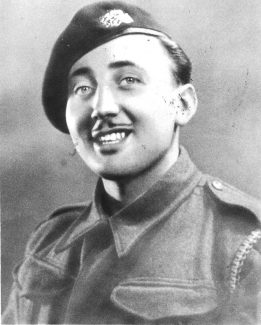 Ken Phillott as a young soldier
