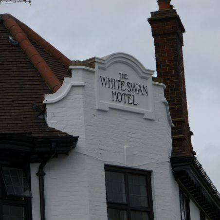 Swans sign has been removed and The White Swan Hotel sign can be seen | Jo Cullen