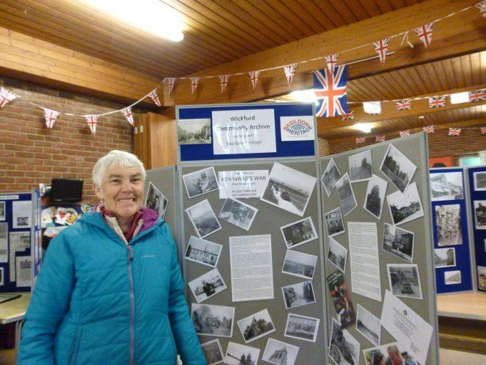 Joyce ward with Ken's photos   Jo Cullen