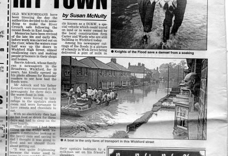 WICKFORD FLOODS, SEPTEMBER 1958.