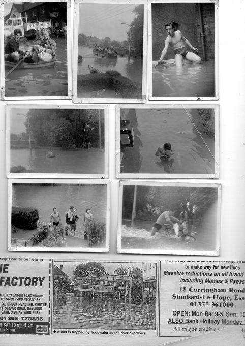 WICKFORD FLOODS, SEPTEMBER 1958.