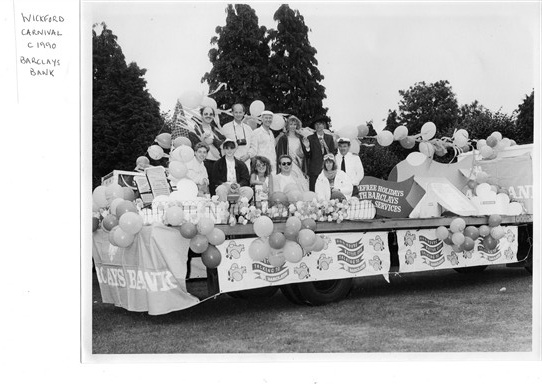 Barclays carnival float c1990
