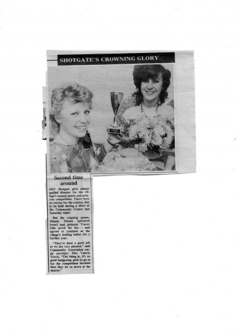 SHOTGATE CARNIVAL QUEEN & PRINCESS 1983 & 1984