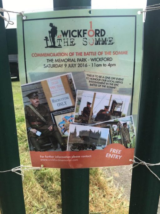 Wickford at The Somme, a commemoration of the Battle of The Somme.