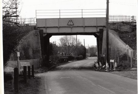 Ramsden Bellhouse railway bridge replaced in a weekend.