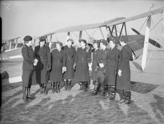 The first eight women members of the ATA. Marion Wilberforce is nearest to the camera.