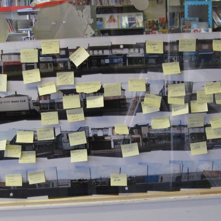 Wickford Memory Wall in the Library