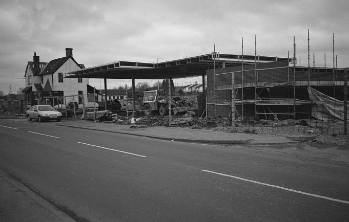 Runwell Road (3) Petrol station being built
