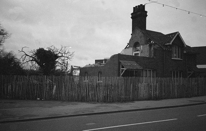 Wickford High Street, demolition of some houses. | Copyright Barry Wade