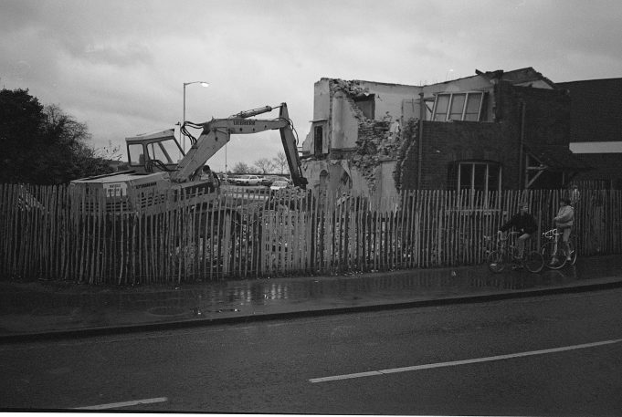 Demolition of railway cottages | Barry Wade