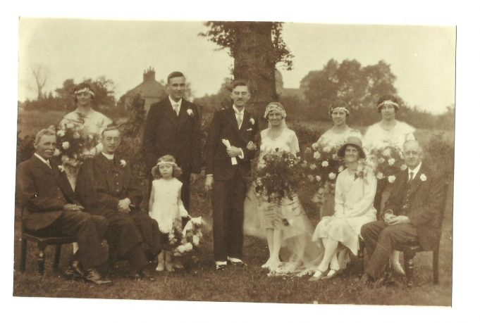 The wedding of Sheila Taylor's mother, Gladys Potter, in 1930.