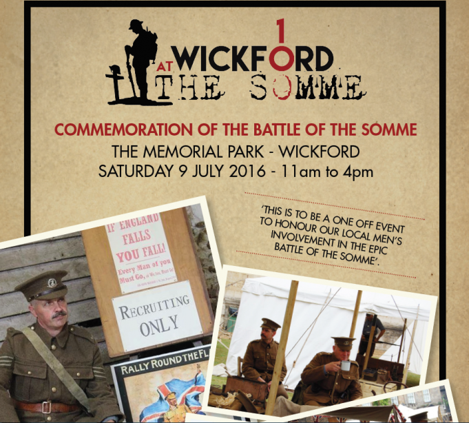 Wickford at The Somme, a commemoration of the Battle of the Somme
