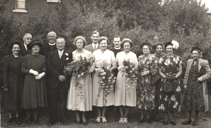 The wedding of Kath Potter to Cecil Cork
