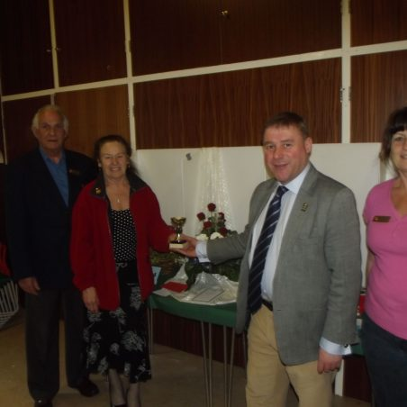 The local MP Mr Mark Francois presents the prizes at The spring 2012 show | Geoff Whiter