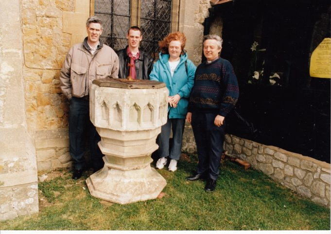 The font after restoration | Downham Church Collection