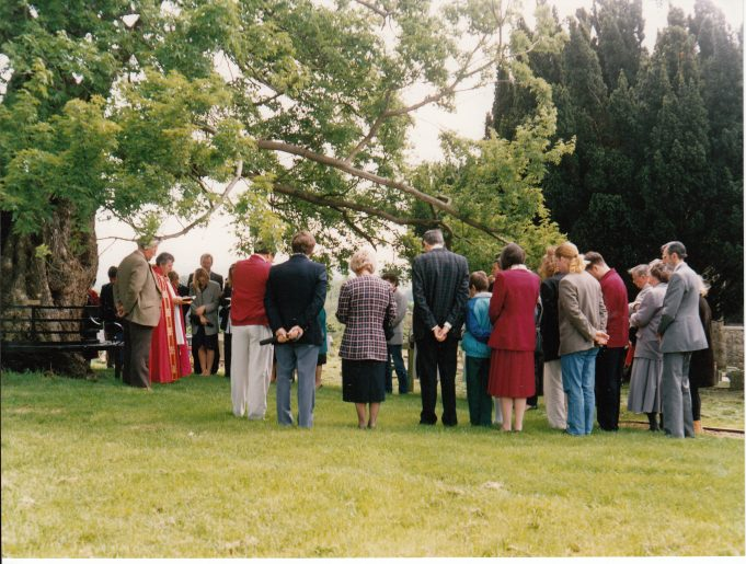 Dedication of the new seat | Downham Church Collection