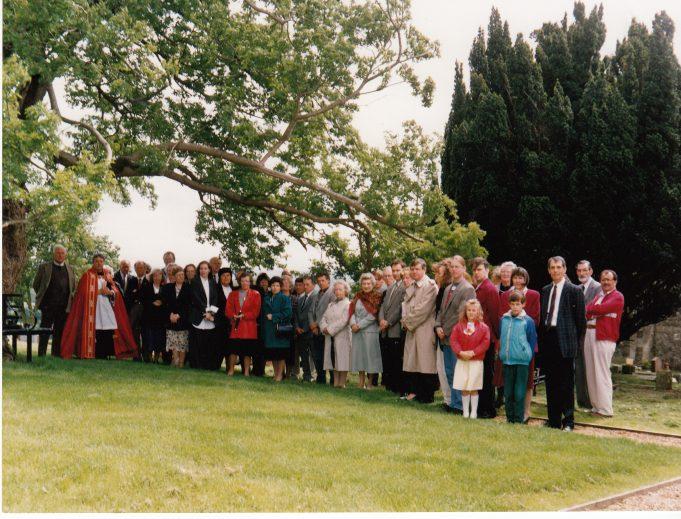 Dedication of new seat | Downham Church Collection