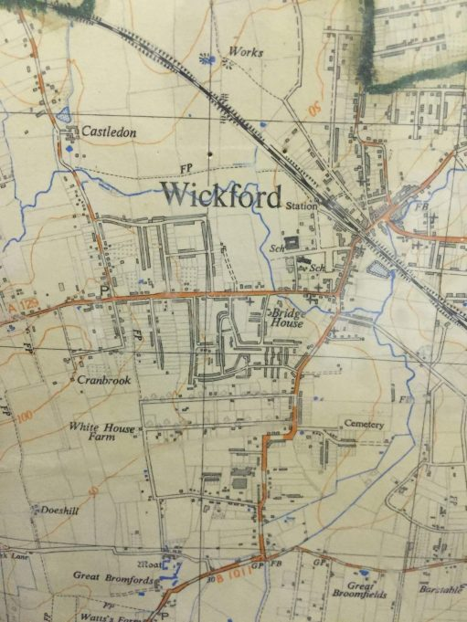 Map of Wickford, (c.1950?)