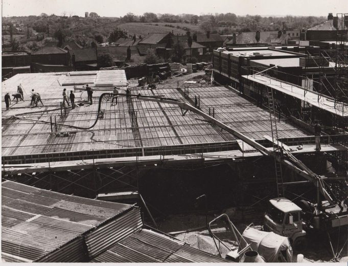 Laying the concrete roof. | Peter Saunders