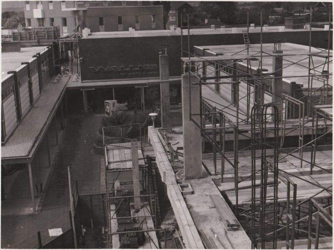 August 1974. Shops facing High Street already open. | Peter Saunders