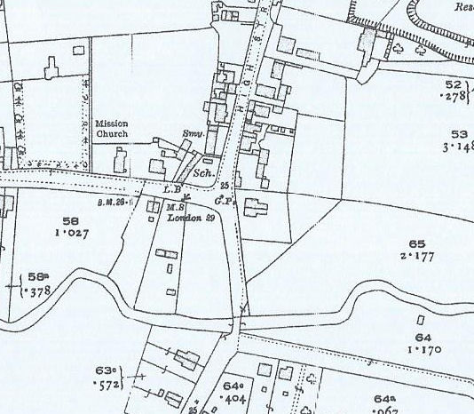 Halls corner from 1922 map | OS maps