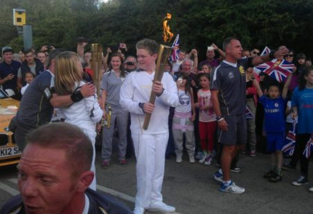 Local schoolboy chosen to carry Olympic Torch.