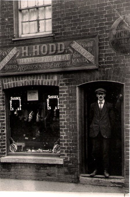 Harry Hodd, outside his shop. | Harry Ralph Hodd