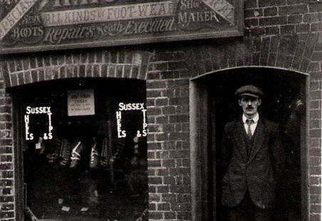 1920s photographs of shops in Wickford High Street.