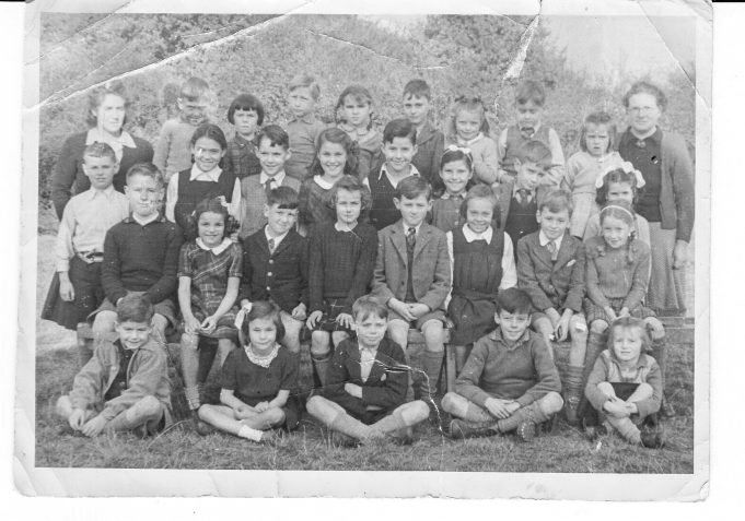 Wartime picture of South Hanningfield School. Miss Bright is on the right and Miss Bisphan on the left. | Dennis Smith