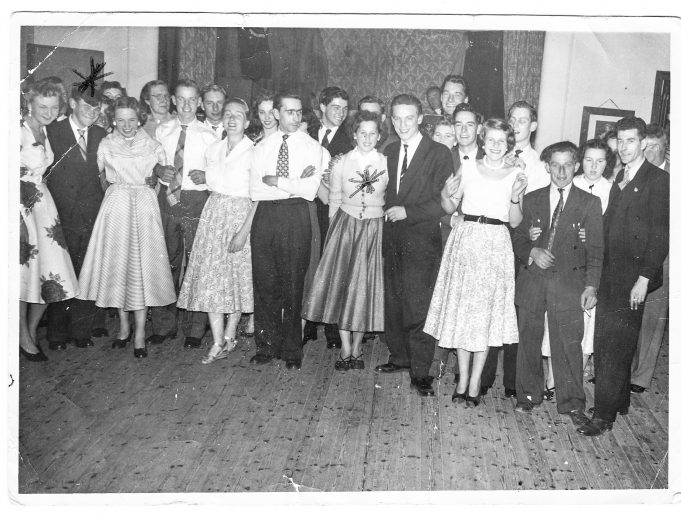 South Hanningfield Young Conservative dance at South Hanningfield. Dennis at back with star Valerie Clough. | Photo by Elizabeth Wall of Beechcroft Cott. swan Lane wickford.