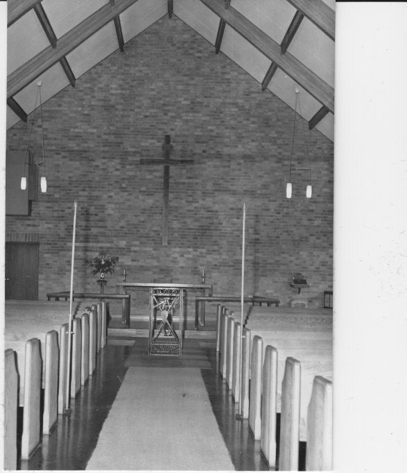 The inside of the new St. Andrew's Church, late 1960s | Pat Carlson