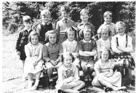 Class of children in the 1950s