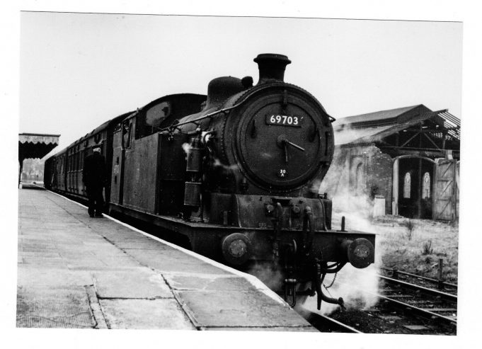 Steam locomotive train that ran through Wickford from Southminster.