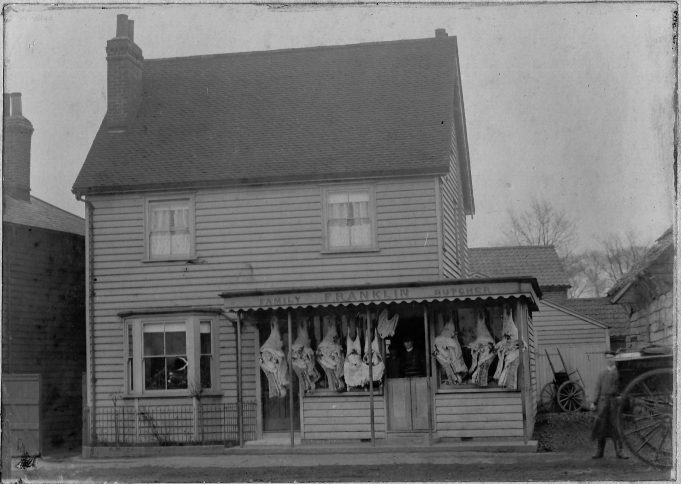 Franklin's Butchers (1), the shop, early 1900s | copyright Mr C Franklin