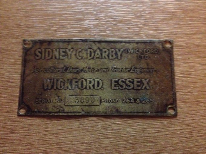 Sidney Darby Brass plaque