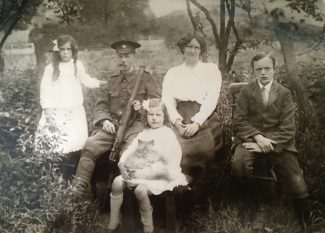 The Prentice family c.1916. In front is Dorothy, and behind her, from the left - Gladys, John Dix, Emily Frances and Austin. | Christie Prentice-Harrison