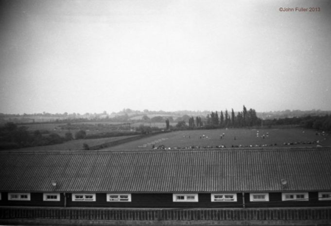 Wickford Secondary Modern playing fields.  Photo taken from roof in July 1959 | John Fuller