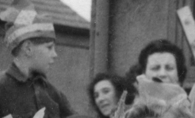 Children & Mums near the house | John Fuller