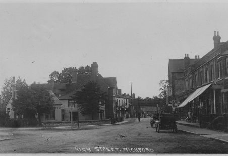 The junction of the Broadway and Southend Road Wickford.